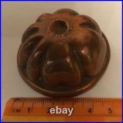 Jones Bros Vintage Antique Copper Chocolate Fondant Pudding Mini Mould 1