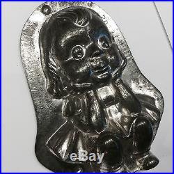LARGE Anton Reiche Antique Girl Chocolate Mold Mould Moule Chocolat Schokolade