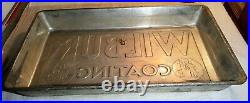 Large Antique Heavy Tin Plated Steel Wilbur Coating Industrial Chocolate Mold