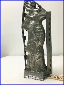 Large Antique Metal Rabbit & Bunny Easter Chocolate Candy Mold