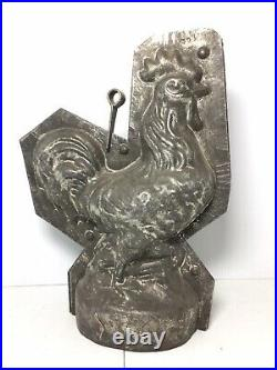 Large Antique ROOSTER Chocolate Mold Germany