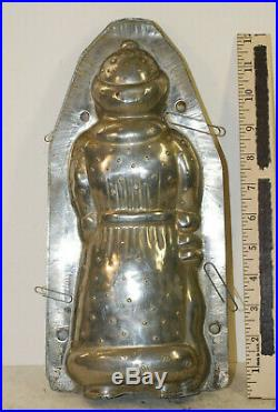 Large Santa Clause tin chocolate mold, 12, good condition, American, circa 1900