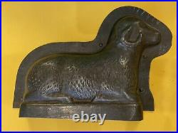 Large Vintage 8 Sheep Ram Horns Chocolate Cake Mold Germany Antique Easter