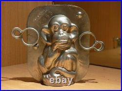 Monkey Chocolate Mold Molds Mould Vintage Antique 15653