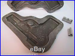 Old Chocolate Mold figural tin metal rare old hard to find candy making two part