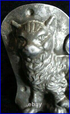 Old antique vintage chocolate shape figure cat Anton Reiche