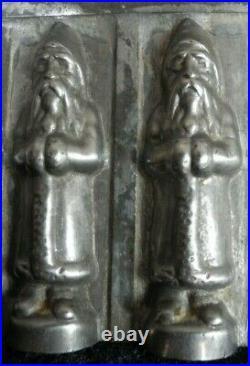 Old antique vintage chocolate shape / mold Santa Claus riecke & co