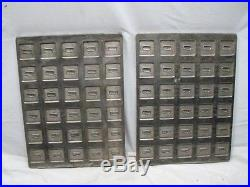 Pr Antique Union Chocolate Bar Candy Confectioners Mold Metal Pan Tray