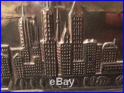 RARE! Antique Vintage Chicago Skyline Chocolate Mold. ANTON REICHE. GERMANY 1929