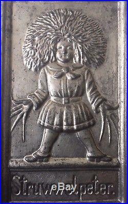 RARE Anton Reiche Dresden Antique Postcard Chocolate Mold STRUWWELPETER nach 517