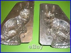 RARE BIG BUNNY Antique Chocolate Mold Candy Mold Rabbit Metal Mold