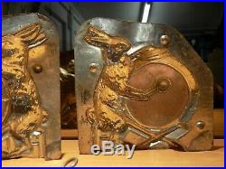 Rabbit With Drum Chocolate Mold Antique Mould Vintage Mould