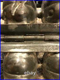 Rare Antique 1920's German Jack-O-Lantern Chocolate Mold
