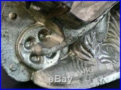 Rare Antique 4 Part Eppelsheimer 6351 Rabbit Wheelbarrow Easter Chocolate Mold