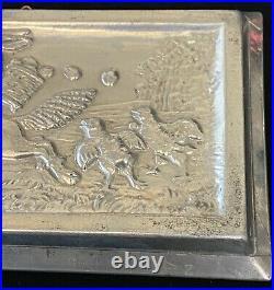 Rare Antique Anton Reiche Easter Bunny Rabbit on Dog Chocolate Mold # 6697