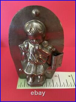 Rare Antique Girl withBraids RIECKE & Co. DRESDEN GERMANY Chocolate Candy Mold