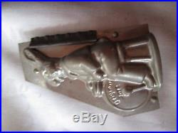 Rare Antique Rabbit Musical Band Candy Chocolate Mold Set Lot of 4