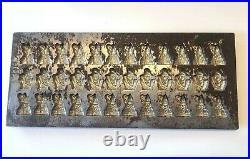 Rare Antique Saint Nicholas & Black Peter Christmas Chocolate Molds Ct 36-Tray