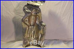 Rare! Antique Vintage Chocolate Mold 12'' Bavarian Rabbit withParasol H. Walter