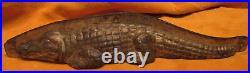 Rare Antique Vintage Chocolate Mold Resting Alligator 12 Inches