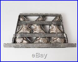 Rare Antique & Vintage Easter Rabbit / Bunny Triple Chocolate Candy Mold
