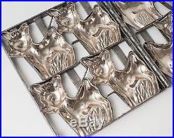 Rare Antique & Vintage Four Deer / Fawn / Bambi Chocolate Candy Mold