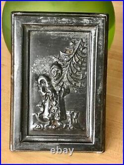 Rare Early German SANTA CLAUS Father CHRISTMAS Toys Tree Chocolate Bar Mold