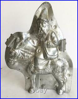 Rare REICHE 7 ANTIQUE 6632 FATHER CHRISTMAS on DONKEY MULE SANTA CHOCOLATE MOLD