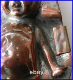 Rare Victorian Ww1 Fumsup Thumbs Up Copper Front Tin Inside Chocolate Mould