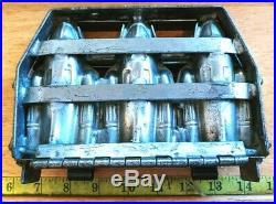 Rare & Vintage Triple Rocket Spaceship Metal Chocolate Mold #4