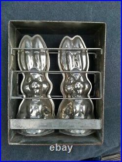 Rare XXL Antique Chocolate Mold 11.8 inches Bunny Rabbit Metal Mold HORNLEIN 30s