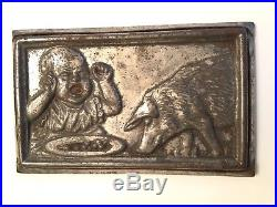 Rare antique Anton Reiche postcard chocolate mold baby crying at pig