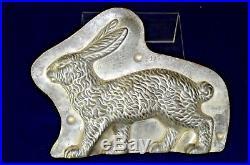 Rare antique Anton Reiche rabbit metal chocolate mold-9 long