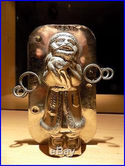 Santa Claus Chocolate Mold Antique Mould Vintage N/15646