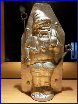 Santa Claus Chocolate Mold Molds Mould Vintage Antique N/8313