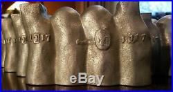Set 10 Zuckerform Rabbit Bunny Mold Cast Lieb Hard Candy 1117 chocolate antique