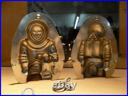 Spaceman Chocolate Mold Molds Mould Vintage Antique 16265