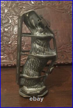 Superb Anton Reiche Large Rabbit Tin Chocolate Mould Decorative Antique