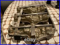 VERY RARE ANTIQUE 1920s TRIPLE FLOWER GIRL CHOCOLATE MOLD GERMANY EXCELLENT