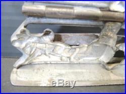 Very Rare Antique Chocolate Mold of Santa & Reindeer IC Weygandi Co Germany