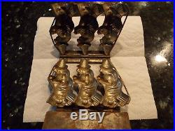 Very Rare Unusual Antique Chocolate Mold DRGM 3 Witches No. 4270 Halloween