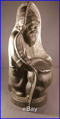 Very Rare, oustanding Antique Anton Reiche Chocolate mold Santa/ Belsnickel