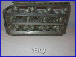 Vintage Antique 4 Santa Hinged and clipped Chocolate Mold