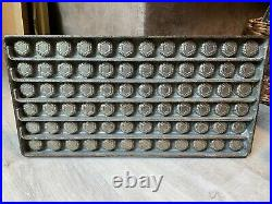 Vintage Antique COMMERCIAL CANDY BAR MOLD heavy weight metal CHOCOLATE