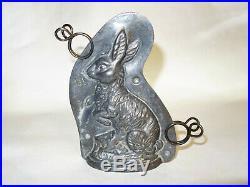 Vintage Antique Chocolate Metal Mold Rabbit German Candy Tin Country Prim Folk