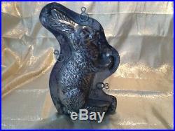 Vintage Antique Chocolate Mold Large Rabbit
