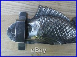 Vintage Antique French Letang Fils Chocolate Fish Mould Decoration item Rare