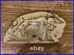 Vintage Antique Greyhound (or Whippet) Chocolate Mold
