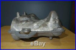 Vintage Antique Lamb Sheep Cast Aluminum Mold Metal Cake Chocolate 13 3/4 Long