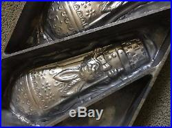 Vintage Antique Metal Flat Candy Chocolate Mold Mould Easter Bunny 15.5 inches